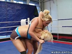 Brandy Smile and Kathia Nobili in lesbo fight