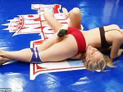 Barbie White and Barbie Smile are having a fight on the boxing ring