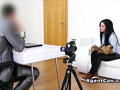 Shaved cunt amateur banged office masturbation