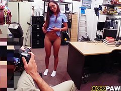 Beautiful Nurse doing whatever for that cash