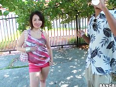 Petite latina Ripley Scott gets filmed on street
