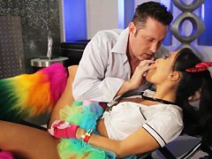 Horny Asa Akira gives doc hot blowjob in the medical office