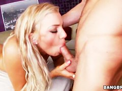 Blonde gal Cameron Dee sucks & gets cunt nailed