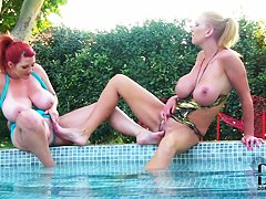 Leigh Darby and Vanessa get nasty outdoor