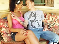 Angel Dark and Porche Carrera hot blowjob